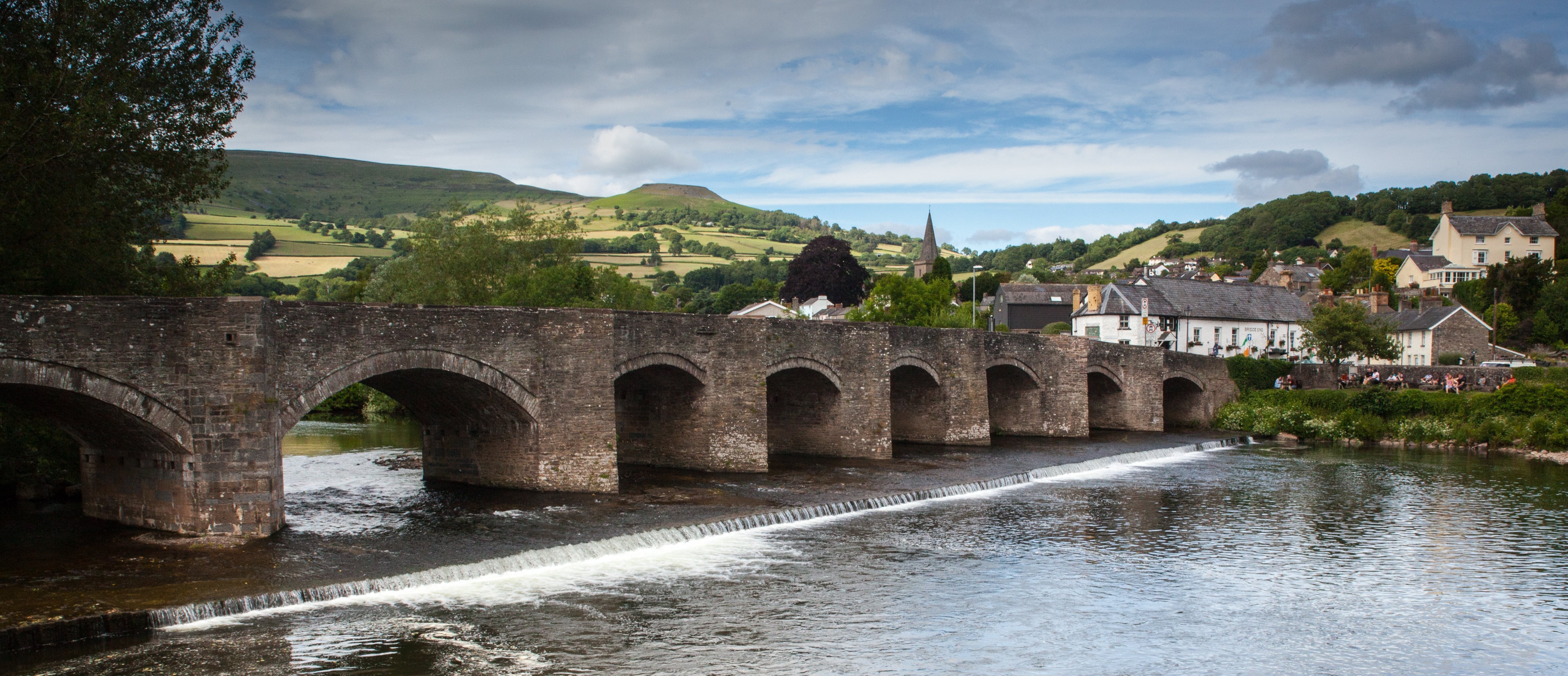 The Picturesque route into Crickhowell