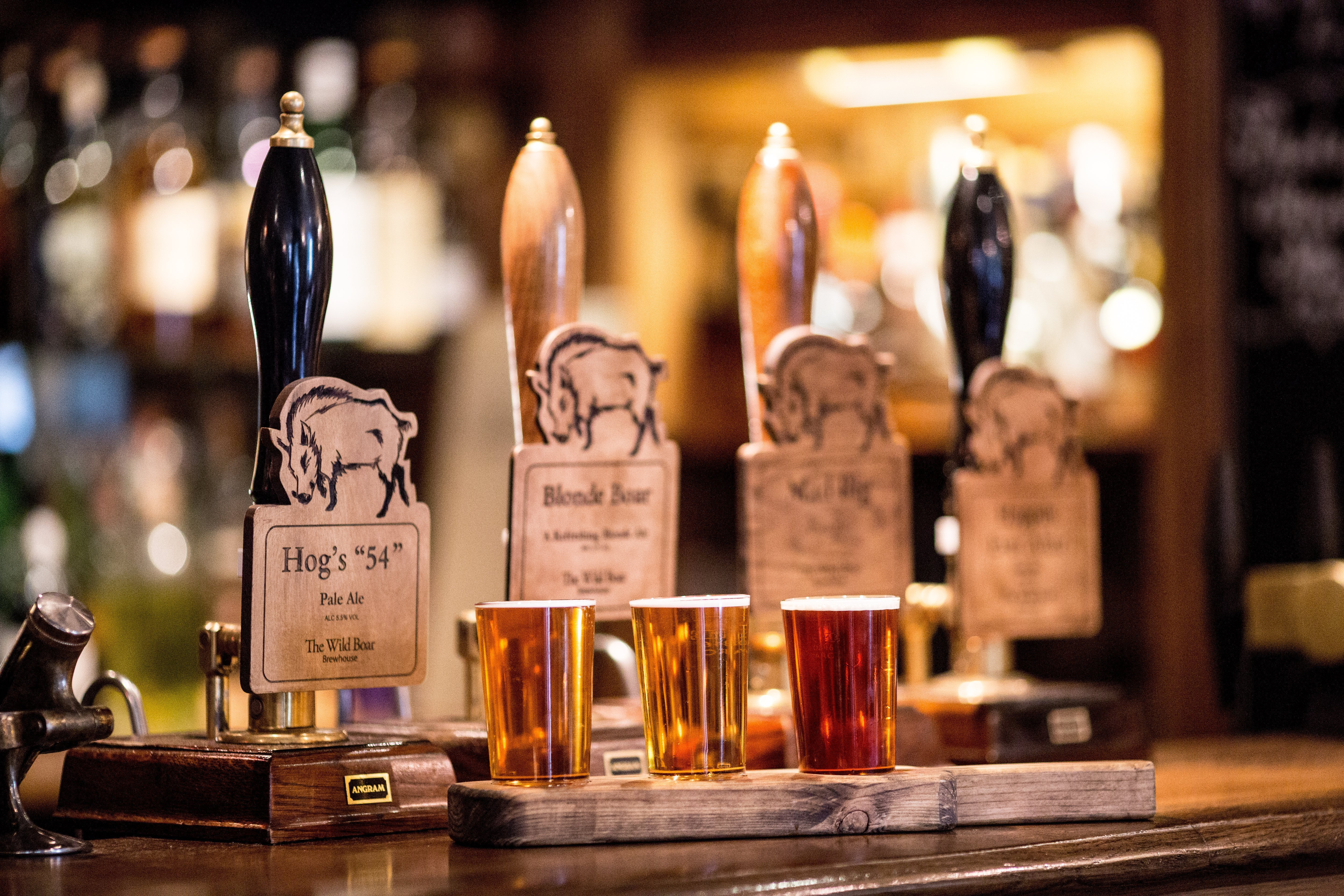 The Wild Boar Real Ale Selection