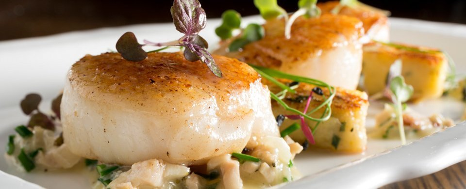 The Blue Lion, scallops, mains in yorkshire, dine in yorkshire, christmas