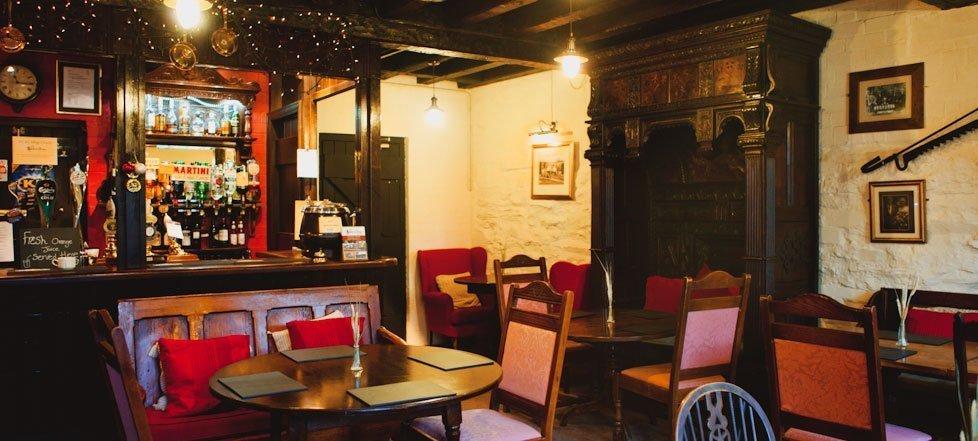 The bar area in The West Arms, Llanarmon Dyffryn-Ceiriog