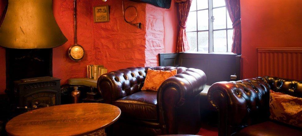 The lounge area in The West Arms, Llanarmon Dyffryn-Ceiriog