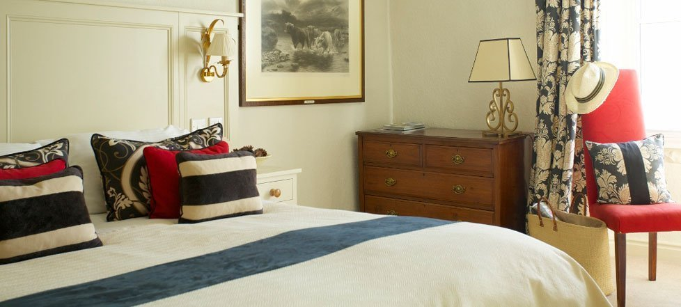 An elegant bedroom at The Rose And Crown