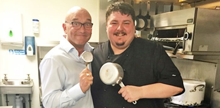 Gregg Wallace paid a visit to the Rose & Crown