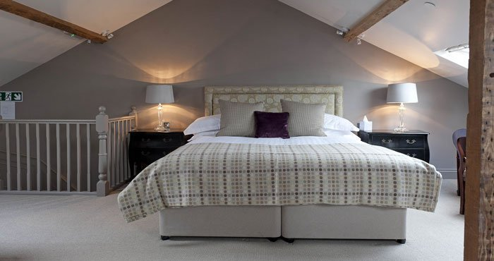 A stunning bedroom in the Castle House Hotel, Hereford