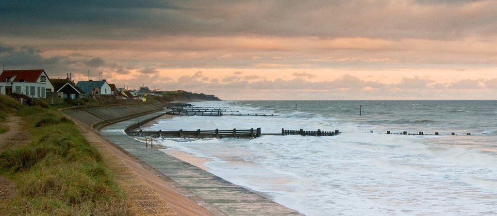 A beach along the Norfolk coastline