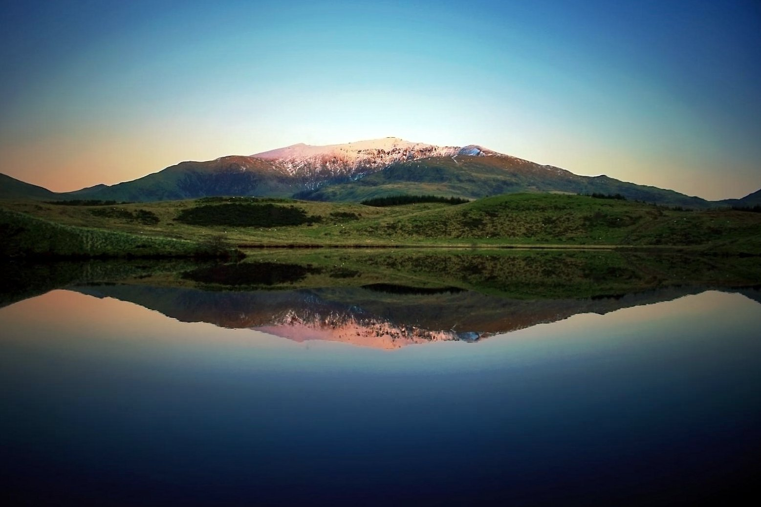 Snowdon and lake