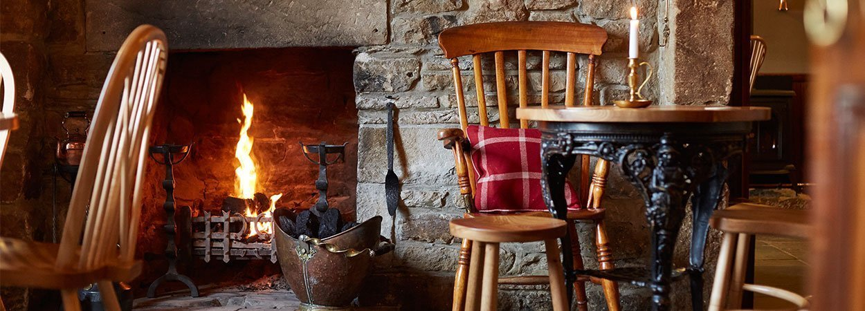 Fireplace at The Rose and Crown Romaldkirk