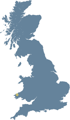 Location of Wolfscastle Country House Hotel