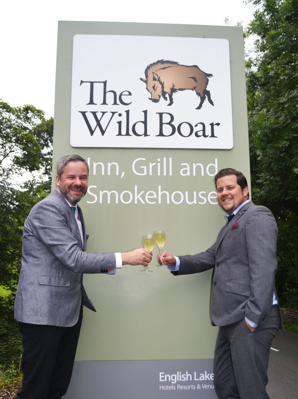 5-star - Wild Boar Inn Manager Adam Bujok (right) with General Manager Matt Stanaway